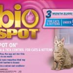 Bio Spot Cat Spot On Under 5 Lbs
