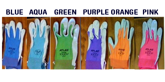 Atlas Nitrile Gloves Colors