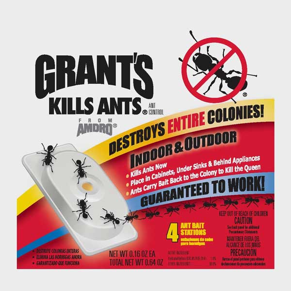 grant 39 s ant bait stations kills ants indoors outdoors 16 traps. Black Bedroom Furniture Sets. Home Design Ideas