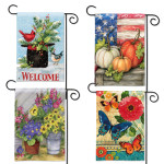 seasonal garden flags