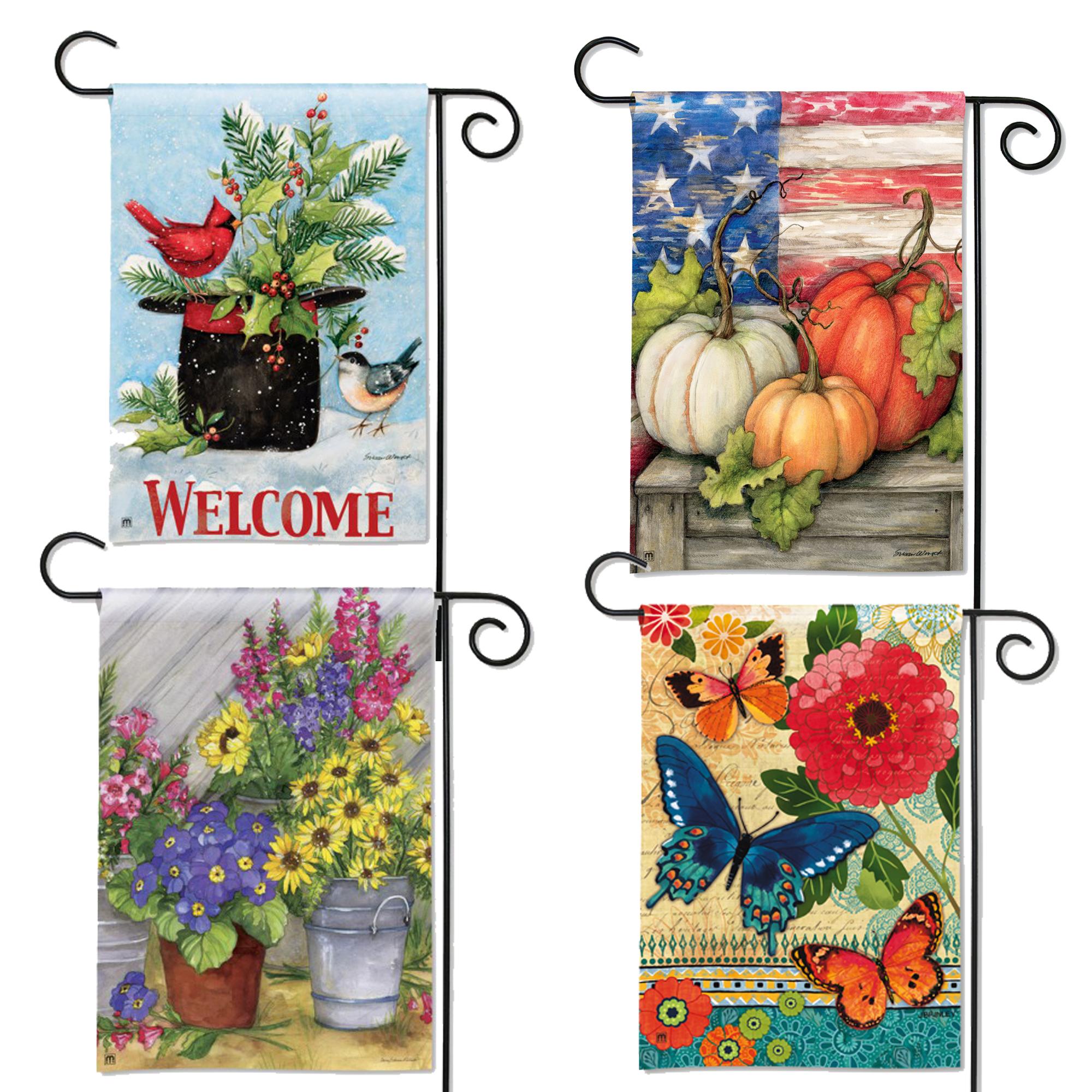 Seasonal Garden Flag Bundle Rolling T Stores