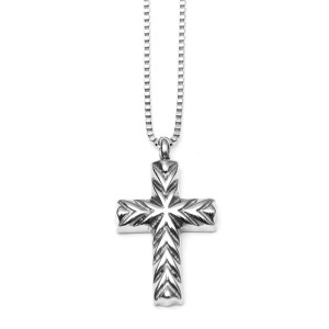 Pet Memorial Jewelry Cross with Cremation Urn and Funnel