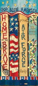 Air Force Custom Art Pole
