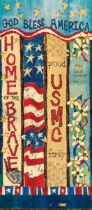 Marines Custom Art Pole