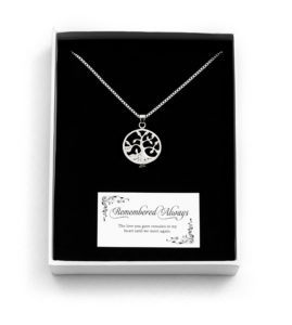 Tree of Life Open Memorial Pendant Boxed